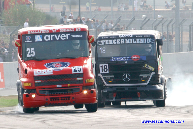 Scania contre Mercedes - Le Mans 2009